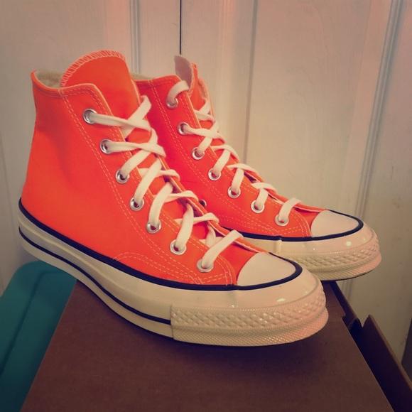 Converse Shoes | Neon Orange Chuck 70